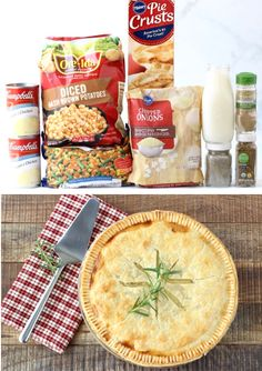 {With Simple Shortcuts} This delicious dinner using canned soup, pie crust, and frozen veggies is such a delicious dinner! Go grab the recipe and give it a try this week! Easy Pie Recipes, Kraft Recipes, Easy Chicken Recipes, Fall Recipes, Easy Dinner Recipes, Cooking Recipes, Potato Recipes, Crockpot Recipes, Dinner Ideas