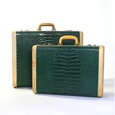 1940s Leather Luggage Set now featured on Fab.