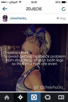 Follow cheerhacks_ on instagram to see more amazing hacks #cheer #cheerhacks #sport #cheerleading