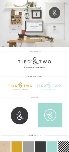 Logo board for Tied & Two  #tiedandtwo #logodesign #logo #logoboard #customlogo #logocolorpallette #graphicdesign #design