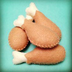 Drumstick Cat Toy - poultry-scented or catnip-filled. $5.00, via Etsy.
