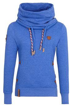 25ee4afeaa42 Naketano Women s Sweatshirt Reorder III (XS, Lecker Blau Melange) Long  Hoodie, Sport