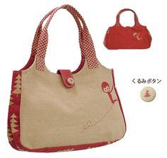 ZAKKA SHOP Shinzi Katoh Collection handbag [red monkey]