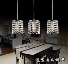 Led colgante lineal lámparas iluminación cristalina moderna lámpara colgante cristal colgante luz de la cocina comedor lámpara de suspensión colgante(China…