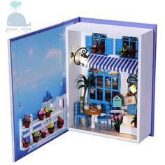 DIY Handcraft Miniature Project Kit My Summer Holiday Diary n Greece Dolls House in Dolls & Bears, Dolls' Miniatures & Houses, Dolls' Houses | eBay
