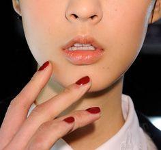 """Burgundy Burst"" nails - Naeem Khan Fall 2012 NYFW"