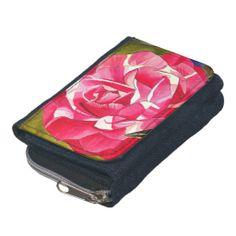 Pink Camellia flower Wallets
