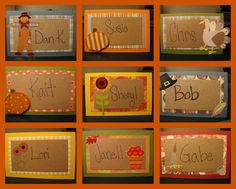 thanksgiving place cards | Thanksgiving Placecards & Centerpieces