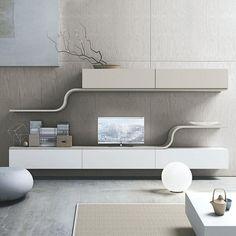 Schrankwand in Weiß Hochglanz Wenge Dekor 320 cm breit (4-teilig ...