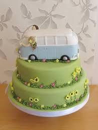 wedding cakes campervan - Google Search Camper Van Cake, Camper Cakes, 40th Cake, My Birthday Cake, Summer Wedding, Wedding Day, Cake Art, Let Them Eat Cake, Gingerbread
