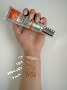Our 5 in 1 Tinted Sunscreen/Beauty Benefit Cream color swatches