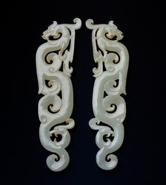 Jade pendants in the form of dragons Zhou Dynasty