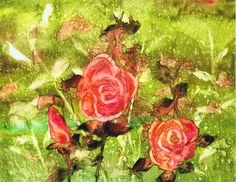 """Rose Trio"" watercolor on Yupo by Sharon Giles Paintings, Watercolor, Rose, Flowers, Plants, Inspiration, Pen And Wash, Biblical Inspiration, Watercolor Painting"