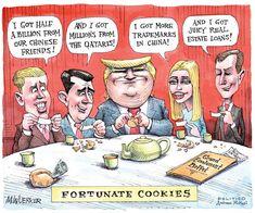 Political Satire, Political Cartoons, American Greed, Eric Trump, Trump Cartoons, Trump Taxes, Rudy Giuliani, American Horror Story, I Got This