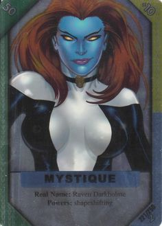 2002 Marvel ReCharge 2 TCG Ultra Rare Full Foil Hero- Mystique #221