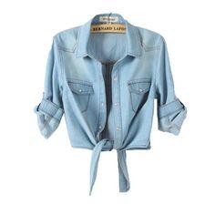Superfs Women Vintage Frayed Denim Cardigan Slim Jacket Outerwear ($18) ❤ liked on Polyvore