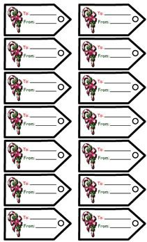 Printable gift tags - candy canes  http://www.apples4theteacher.com/holidays/christmas/printables/gift-tags/candy-cane.html