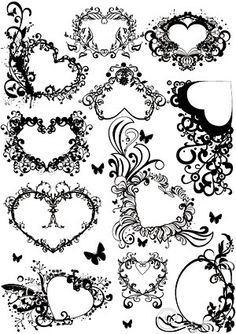lace patterns with hearts - Google Search
