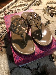 856052670d621 Tory Burch Miller Sandals - 9  fashion  clothing  shoes  accessories   womensshoes  sandals (ebay link)