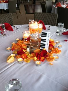 Rock N Roll/Music Wedding Centerpieces {Events Inspired} www.facebook.com/eventsinspiredsd