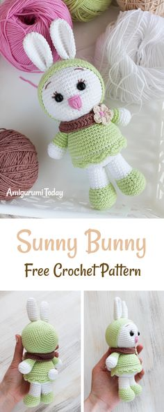 Love bunnies? We have a great crochet pattern to share! Sunny is a lovely and very positive white bunny with a passion for cute clothes.It will brighten up anyone's day, and you can tell them it's hand made with all your love and heart warmth especially for them.