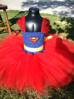 Superman Tutu Dress by SparklesFunCreations on Etsy, $38.00