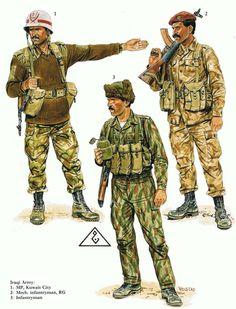 Saddam's Iraqi Army Military Camouflage, Military Gear, Military History, Military Uniforms, Military Police, Iraqi Army, Military Action Figures, Military Insignia, Iraq War