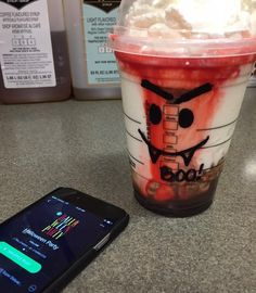 """starbuckspartners: """"Frappula is not the only one listening to this wicked playlist! You can hear the Starbucks Halloween Party playlist on Spotify everywhere you go  (link in profile)"""""""