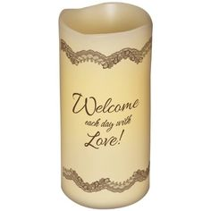 """Inspirational Flameless Candles """"Love"""", 6""""H, 3""""Diameter * Check this awesome product by going to the link at the image."""