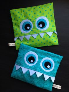 Most current Free sewing bags for kids Suggestions Monster Heat Packs Sewing For Kids, Free Sewing, Sewing Hacks, Sewing Crafts, Sewing Tips, Sewing Tutorials, Rice Bags, Craft Show Ideas, Diy Curtains