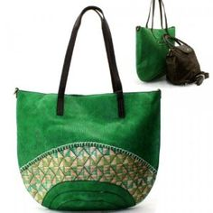 Straw Purse and Bag / Bag in Bag / Green / Rche259grn,$38.50