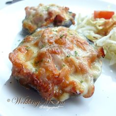 Let's get Wokking!: Baked Portabello with Ham and Cheese  火腿芝士烘烤褐菇