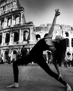 Yoga In Florence & Rome by Robert Sturman The Colosseum, Rome Pictured: Ashika Gogna Loved and pinned by www.downdogboutique.com #Yoga