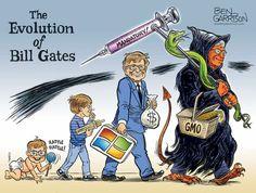 Bill Gates, Satire, Ben Garrison, Attitude, Charitable Contributions, World Government, George Soros, Donald Trump Jr, Donate Now