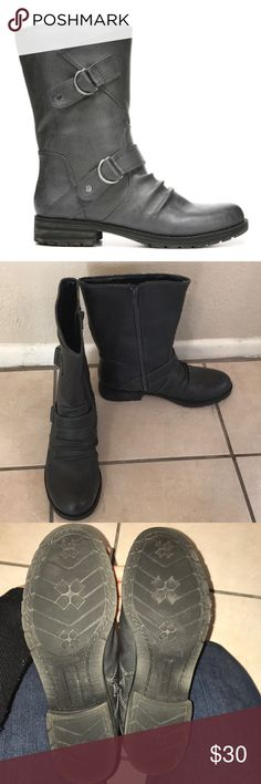 Natural Soul Boots Only worn once. My issue with these is they fit super snug and comfortably on the foot, but the calf was too big for me, I have super skinny legs. They're called the Bassoon boots in Graphite color. They also come with the original box! Natural Soul Shoes Combat & Moto Boots