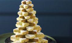 Guetzli-Tannenbaum - Rezepte - Schweizer Milch Biscuits, Krispie Treats, Cereal, Cookies, Breakfast, Desserts, Dolce, Food, Sugar