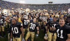 Notre Dame Football   Michael Conroy/AP Photo Notre Dame celebrates its win over Michigan ...