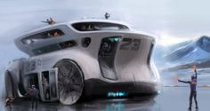 Concept vehicle illustrations by Vadim Gousmanov