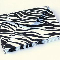 Handmade Zebra Envelopes  tgraydesigns.storenvy.com