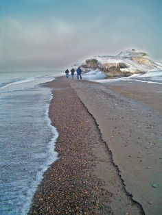 Point Barrow, Alaska - the northern most point in US. The shores were absolutely full of pink jellyfish.