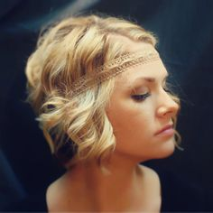 Brown Ivory Tan or White Casual Lace Boho Headband by AliceInBloom, $6.00