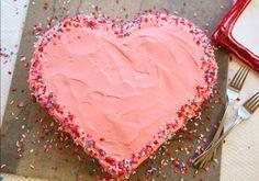 Lovingly baked - Valentines cake