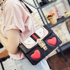 Bolsa Divertida Designer Coração Bolsos Carteras Mujer