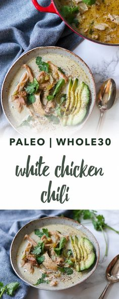 Paleo white chicken chili recipe | Empowered Sustenance
