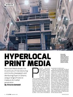 Hyperlocal Print Media by Victoria Gaitskell (PrintAction September 2016)
