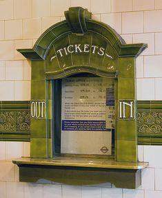 Lovely Art Nouveau decoration of station ticket counter, Edgeware Road Bakerloo Line, London | JV