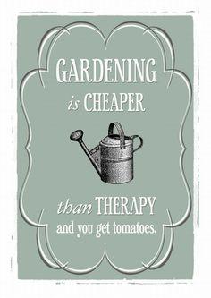 Gardening Print Gardening Quote Poster Rustic