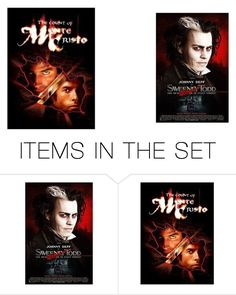 """""""The Count of Monte Cristo and Sweeney Todd: The Demon Barber of Fleet Street"""" by roseangel21 on Polyvore featuring art"""