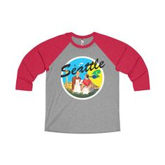 Rocco's Jet City: Bob and Gwen Unisex Tri-Blend 3/4 Raglan Tee