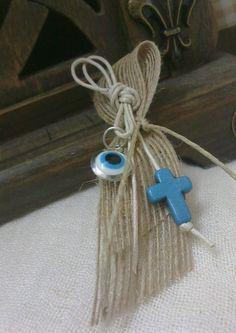 Burlap martyrika Orthodox baptism dayvintage by CraftStories, $17.00